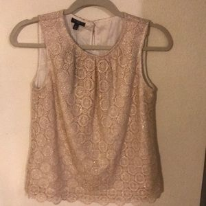 NWT shimmer gold holiday tank